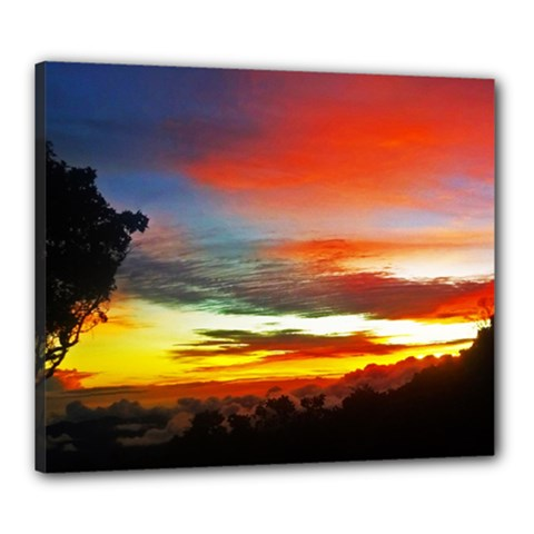 Sunset Mountain Indonesia Adventure Canvas 24  X 20  by Celenk