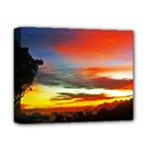 Sunset Mountain Indonesia Adventure Deluxe Canvas 14  x 11