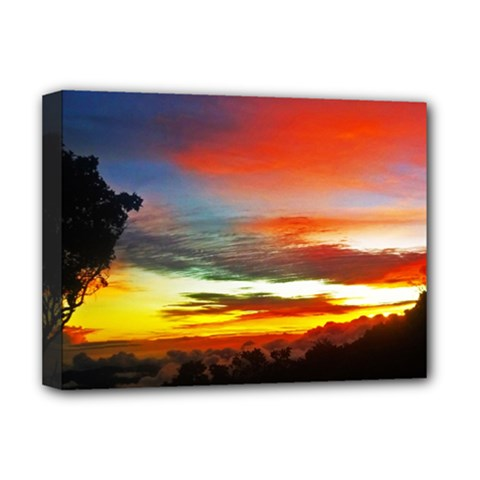 Sunset Mountain Indonesia Adventure Deluxe Canvas 16  X 12   by Celenk