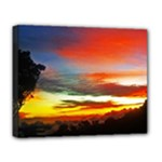 Sunset Mountain Indonesia Adventure Deluxe Canvas 20  x 16