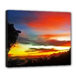 Sunset Mountain Indonesia Adventure Deluxe Canvas 24  x 20