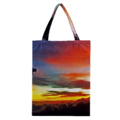 Sunset Mountain Indonesia Adventure Classic Tote Bag by Celenk