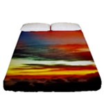 Sunset Mountain Indonesia Adventure Fitted Sheet (Queen Size)