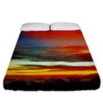Sunset Mountain Indonesia Adventure Fitted Sheet (King Size)