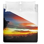 Sunset Mountain Indonesia Adventure Duvet Cover (Queen Size)