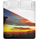 Sunset Mountain Indonesia Adventure Duvet Cover (California King Size)