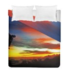 Sunset Mountain Indonesia Adventure Duvet Cover Double Side (Full/ Double Size)