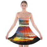Sunset Mountain Indonesia Adventure Strapless Bra Top Dress
