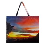 Sunset Mountain Indonesia Adventure Zipper Large Tote Bag