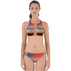 Sunset Mountain Indonesia Adventure Perfectly Cut Out Bikini Set by Celenk