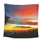 Sunset Mountain Indonesia Adventure Square Tapestry (Large)