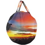 Sunset Mountain Indonesia Adventure Giant Round Zipper Tote