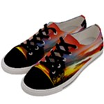 Sunset Mountain Indonesia Adventure Men s Low Top Canvas Sneakers