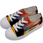 Sunset Mountain Indonesia Adventure Kids  Low Top Canvas Sneakers