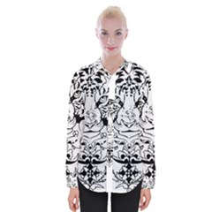 Tiger Animal Decoration Flower Womens Long Sleeve Shirt