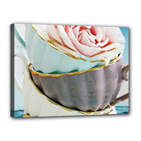 Tea Cups Canvas 16  X 12  by 8fugoso