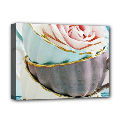 Tea Cups Deluxe Canvas 16  X 12   by 8fugoso