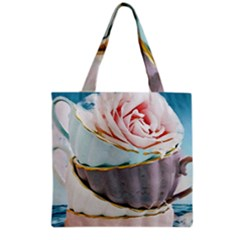 Tea Cups Grocery Tote Bag by 8fugoso