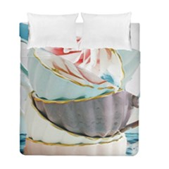Tea Cups Duvet Cover Double Side (full/ Double Size) by 8fugoso