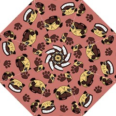 Happy Pugs Straight Umbrellas by AllThingsEveryone