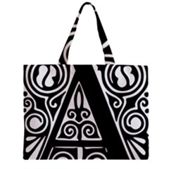 Alphabet Calligraphy Font A Letter Mini Tote Bag by Celenk