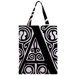 Alphabet Calligraphy Font A Letter Classic Tote Bag by Celenk
