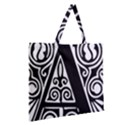 Alphabet Calligraphy Font A Letter Zipper Large Tote Bag View2