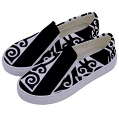 Alphabet Calligraphy Font A Letter Kids  Canvas Slip Ons by Celenk