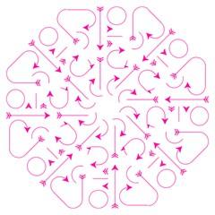 Arrows Girly Pink Cute Decorative Folding Umbrellas by Celenk