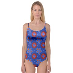 Seamless Tile Repeat Pattern Camisole Leotard  by Celenk