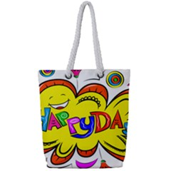 Happy Happiness Child Smile Joy Full Print Rope Handle Bag (small)
