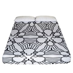 Pattern Design Pretty Cool Art Fitted Sheet (california King Size)