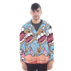 Illustration Characters Comics Draw Hooded Wind Breaker (men) by Celenk