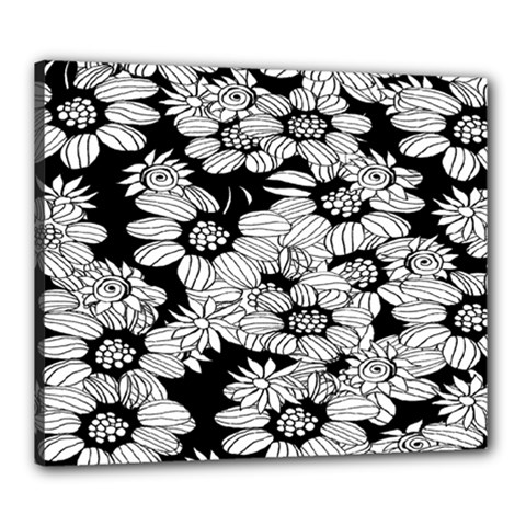 Mandala Calming Coloring Page Canvas 24  X 20  by Celenk