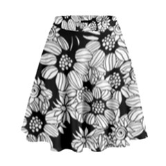 Mandala Calming Coloring Page High Waist Skirt by Celenk