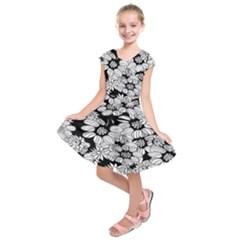 Mandala Calming Coloring Page Kids  Short Sleeve Dress