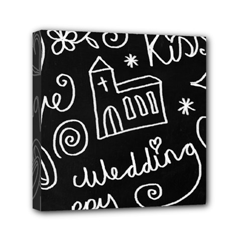 Wedding Chalkboard Icons Set Mini Canvas 6  X 6