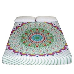 Flower Abstract Floral Fitted Sheet (california King Size)