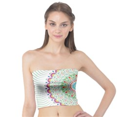 Flower Abstract Floral Tube Top