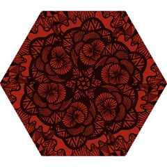 Background Abstract Red Black Mini Folding Umbrellas by Celenk