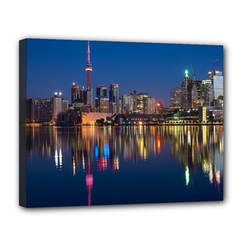 Buildings Can Cn Tower Canada Canvas 14  X 11  by Celenk