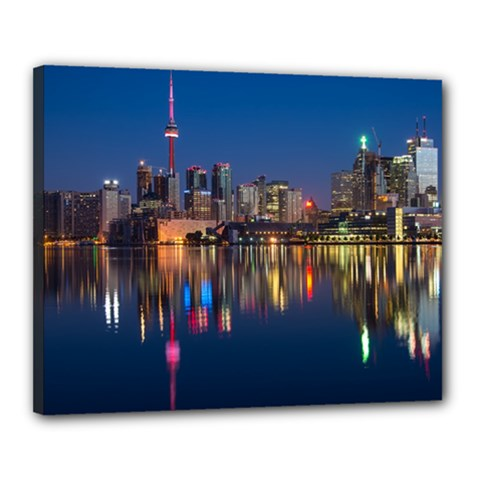 Buildings Can Cn Tower Canada Canvas 20  X 16  by Celenk