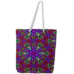 Seamless Tileable Pattern Design Full Print Rope Handle Tote (large)