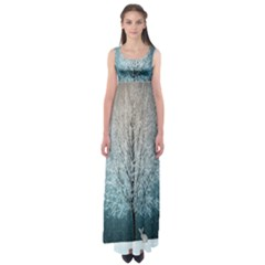Winter Wintry Snow Snow Landscape Empire Waist Maxi Dress by Celenk