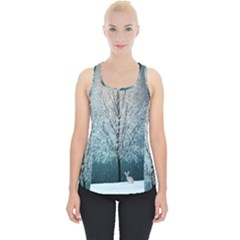 Winter Wintry Snow Snow Landscape Piece Up Tank Top by Celenk