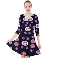 Planet Say Ten Quarter Sleeve Front Wrap Dress