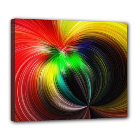 Circle Lines Wave Star Abstract Deluxe Canvas 24  X 20   by Celenk