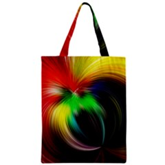 Circle Lines Wave Star Abstract Zipper Classic Tote Bag