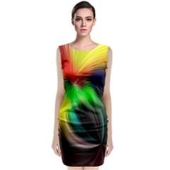 Circle Lines Wave Star Abstract Classic Sleeveless Midi Dress