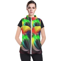 Circle Lines Wave Star Abstract Women s Puffer Vest